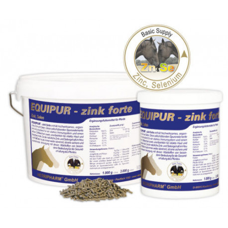 Equipur Zink forte 6 kg Ergänzungsfuttermittel + 500ml Schwarzkümmelöl gratis Vetripharm
