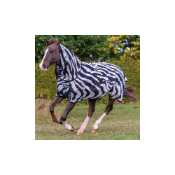 Pferdedecke Bucas Buzz-Off Zebra Full-Neck