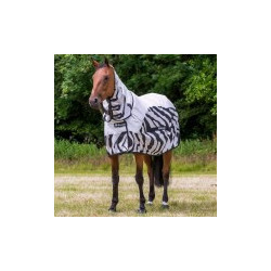 Pferdedecke Bucas Buzz-Off Rain Zebra Full-Neck