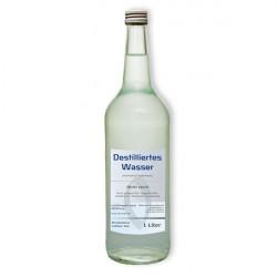 Destilliertes Wasser 1 Liter Glasflasche